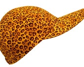 "SALE - ""Follow Dat Cat"" - Brown & Butterscotch Leopard Spots Baseball Ball Cap Golden Cheetah Animal Skin Print Ladies Sports Fashion Hat"