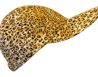 Catnip - Leopard Baseball Ball Cap Cheetah Spots Jaguar Wild Cat Cotton Animal Skin Print Ladies Fashion Hat by Calico Caps