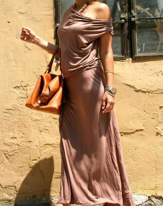 Light Brown URBAN NOMAD Dress ( Short Sleeves ) - FREE Shipping