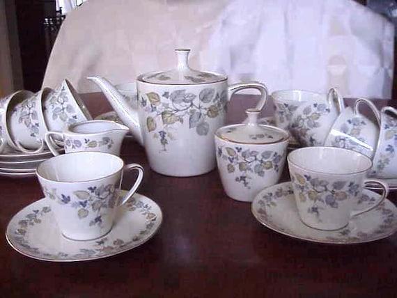 Antique Bavaria K&A Krautheim Vignette Tea/Coffee cups, Tea/Coffee Pot, sugar, creamer