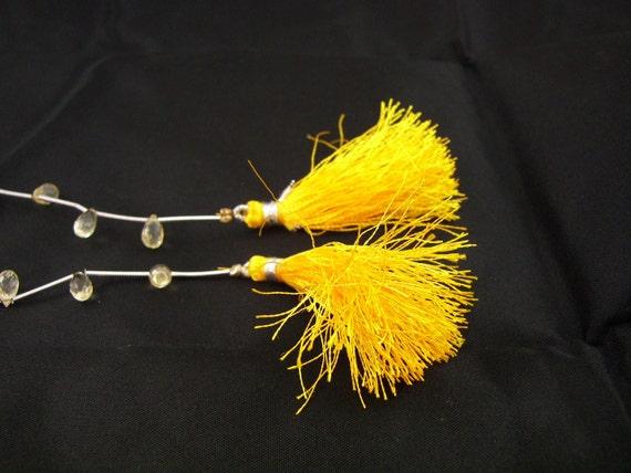 CITRINE Teardrop Briolettes Beads  string 11 pieces ,  8 x 6 mm