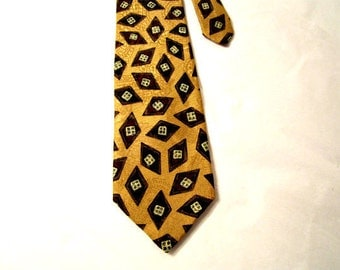 Men Silk Necktie. Vintage silk  necktie. Best of class, Robert Talbott. 100% silk.
