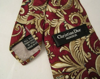 Silk Necktie Christian Dior Monsieur Silk Woven In Italy