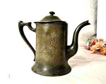 Silver Plated Teapot Tarnished And Dented Still Functional