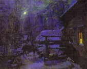 Falling Stars on Winter Solstice Perfume Oil - Balsam, Incense Resins, Musk, and Smoke - 5 ml.