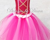 Custom Made Princess Pinkalicious Dress. Skirt, Corset Top and Hair clip. Size 12m-5T Custom sizes and colors available