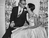 Vintage Wedding Portrait 1955 Digital Photo Scan