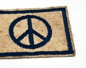 Vintage 60's Peace Patch Unused
