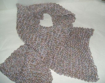 Lovely multi color Hand Knit Scarf