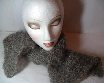 Taupe Mohair Scarf