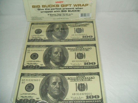 100 DOLLAR BILL WRAPPING PAPER
