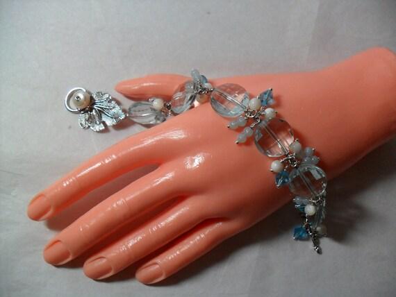 Aquamarine Cut Crystal Glamour Bracelet