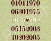 Custom Important Dates Sign