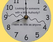 CD Clock Looking for a little Authority Recycled Hand Made Compact Disc Clock for Desk or Wall