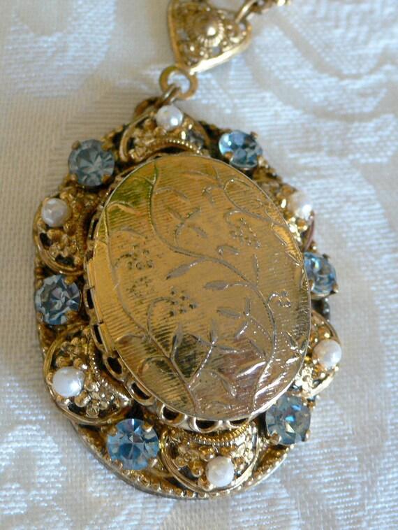 Vintage locket necklace, WESTERN GERMANY