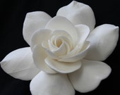 Ivory Gardenia hair pin 3 inch