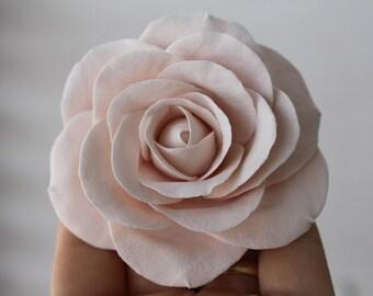 """Rose hair clip 3"""", bridal hair flower, bridal hair accessory"""