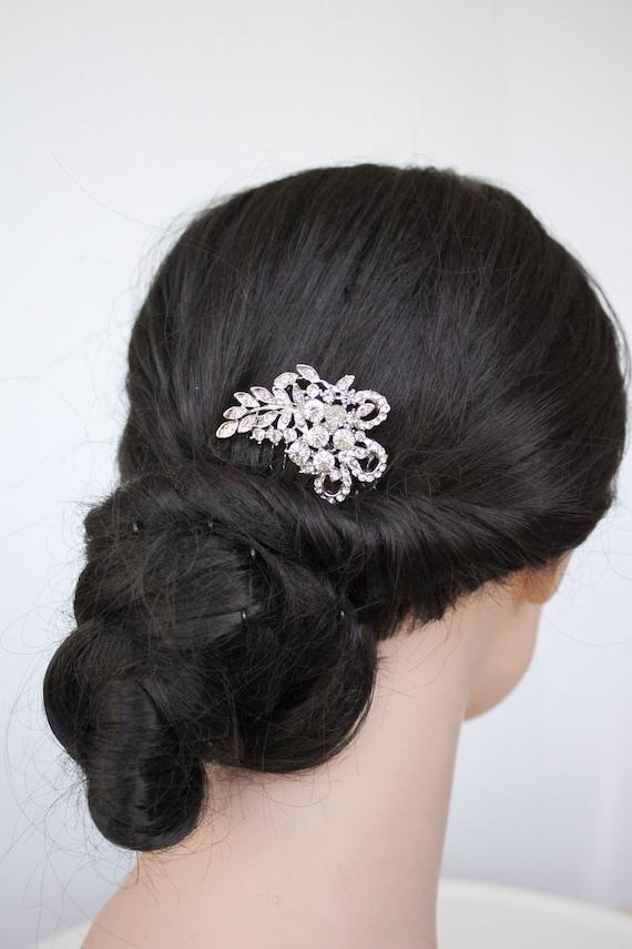 Rhinestone Bridal Hair Comb, bridal hair piece