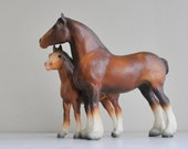 Vintage Breyer Clydesdales / Draft Horses Foal and Mare