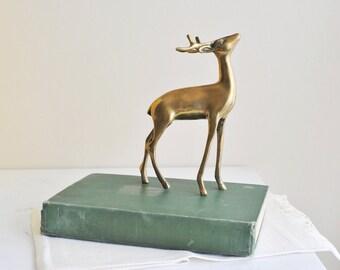 Vintage Bambi Book 1929 by Felix Salten Fourth Printing Green Book Baby's Room Decor Library Wedding Woodsy Forest Kurt Weise Bookshelf