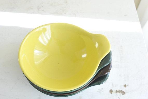 Four Metlox - Poppytrail - Vernon Shoreline Lugged Soup Bowls
