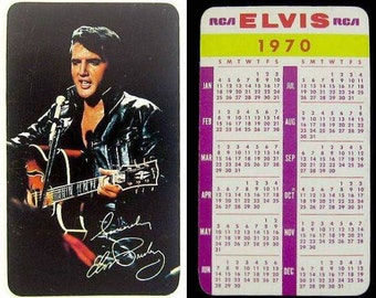 Vintage RCA Elvis Presley 1970 Calendar Photo Card