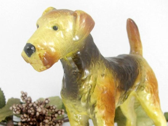 Goebel Airdale Fox Terrier Dog Figurine By Chrisscollectibles