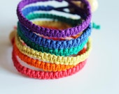 Rainbow Set of 6 Hemp Bracelets
