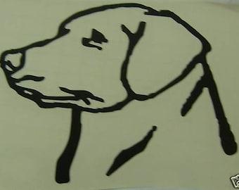 "Decal - Any Color 6"" Labrador Head"