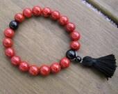 Red Stone Mala Bracelet