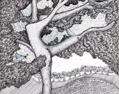 "Building My Nest, 6"" x 6"" Archival Giclee Print"