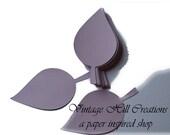 50 Paper Leaf - Leaves- Pale Purple Wedding - Place Card, Escort Card, Die Cut Tags