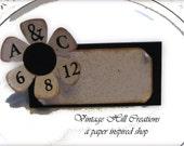 200 Wedding Place Cards, Escort Cards -CUSTOM - Vintage Daisy, Black and White Wedding
