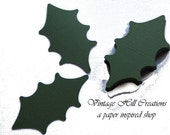 200 Holly Leaves in Green - Wedding Place Card, Escort Card, wish tree tag