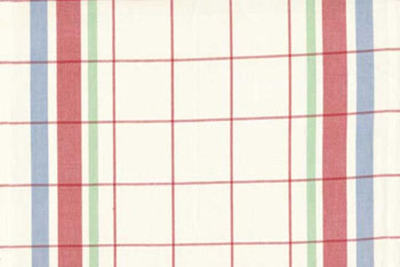 Moda Retro Kitchen Toweling,  Bright Plaid, 2 7/8 yards and 3.5 yds Fifties Kitchen