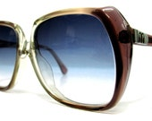 80's Vintage Sunglasses--- Crystal Like German Square Ladies/Child Sunglasses