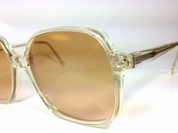 80's Vintage Italian Square Frame Mint Sunglasses