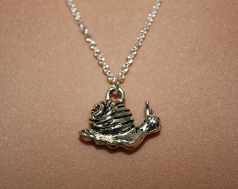 Tiny Snail Necklace Sterling Silver Plated Chain Gardener Gift, Gift for Mom