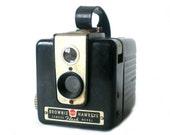 Brownie Camera, Kodak Brownie Hawkeye, Vintage Flash Camera, Black