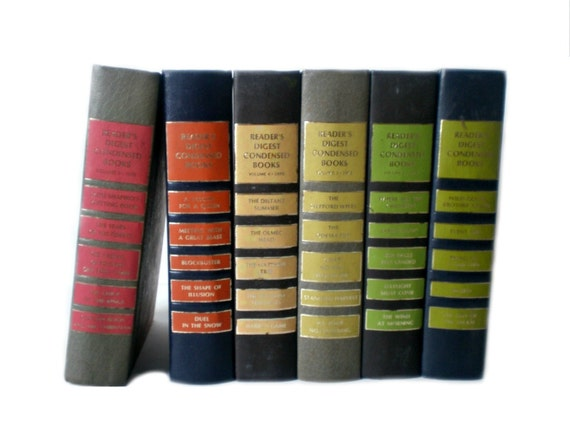 Rainbow Book Collection, Instant Library, Vintage Books, Rustic Decor