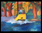 Boating in the Oaks 8 x 10 PRINT