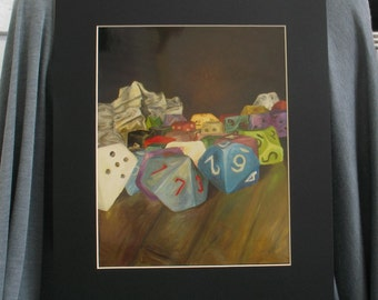 Holy Relics of the Gamer 8 x 10 PRINT with 11 x 14 Black Matte