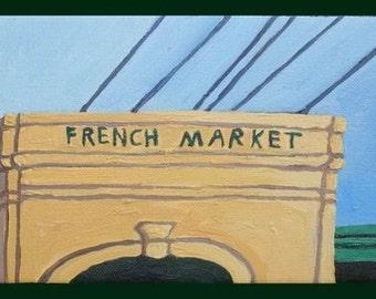French Market 4 x 8 PRINT