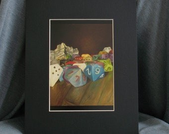 Holy Relics of the Gamer - 5 x 7 PRINT with 8 x 10 Black Matte
