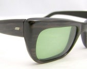RESERVED for MICHAEL WALKER Solid Unique woodgrain frame 1950s unisex Geekish eyeglasses