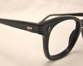 American Optical1950s  Men's  EYEGLASSES Black