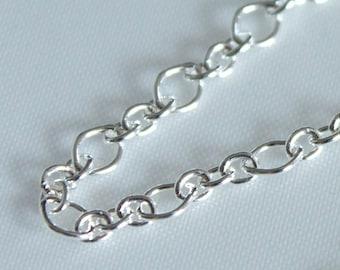 3 feet, Italian Sterling Silver Chain, Two Style Oval Links, M/FIRR050X