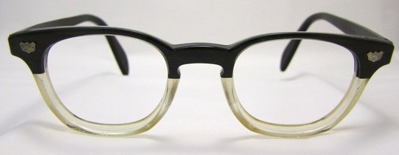 1950s Two Tone Geekish Eyeglasses  Safety Supply