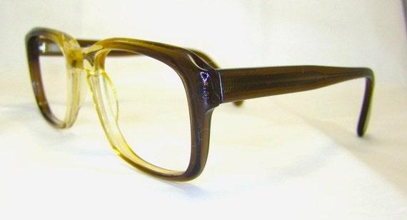Liberty Brand 1960S Mens Eyeglasses Two Tone Translucent