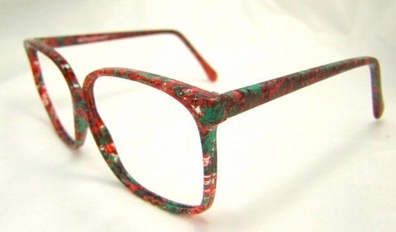 womens eyeglasses multi colored eyeglasses 80s 90s chic